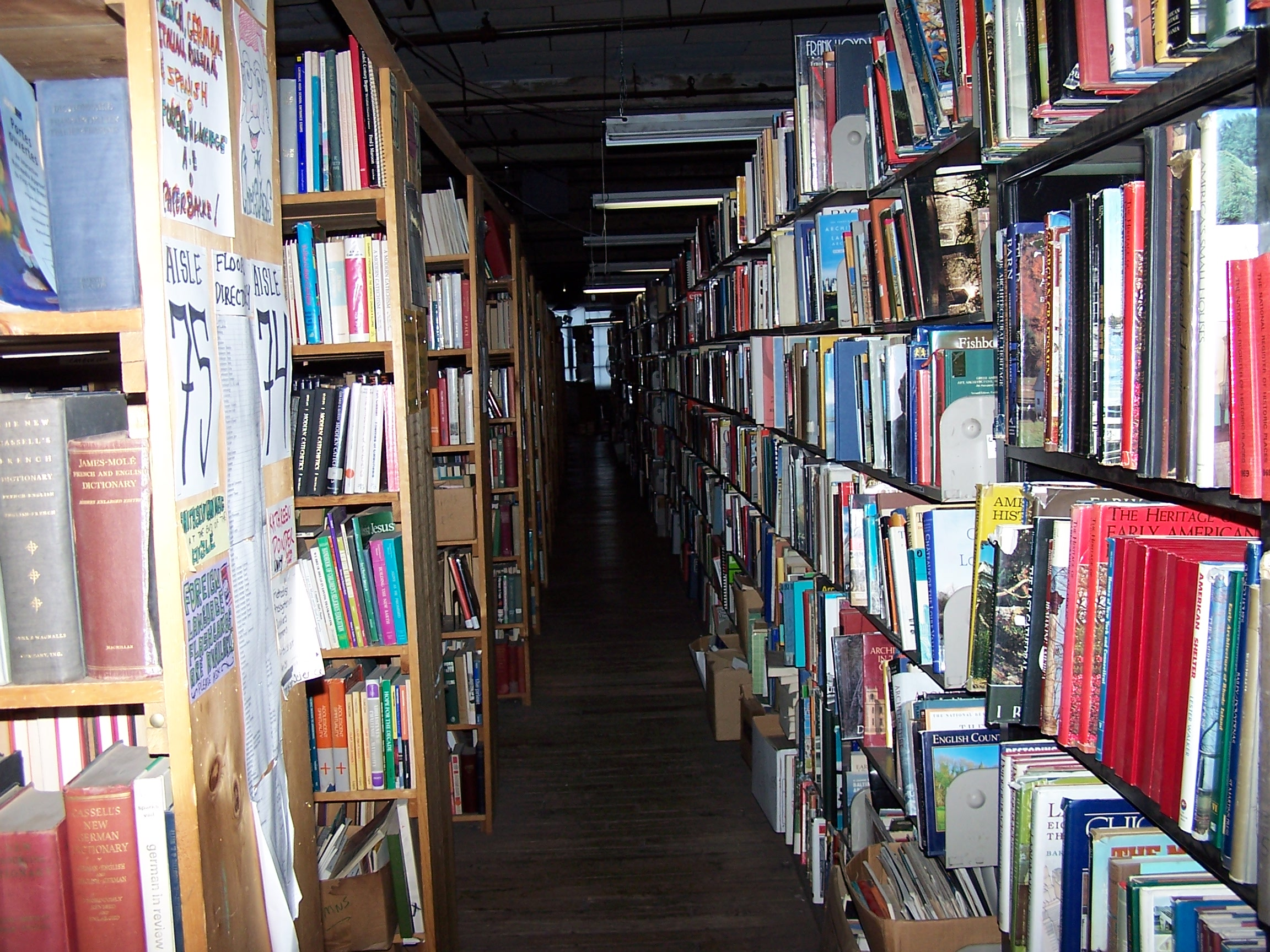 Books as far as the eye can see