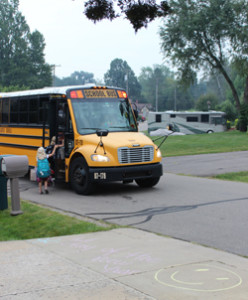 School bus arrives on day 1