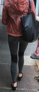 Woman wearing leggings